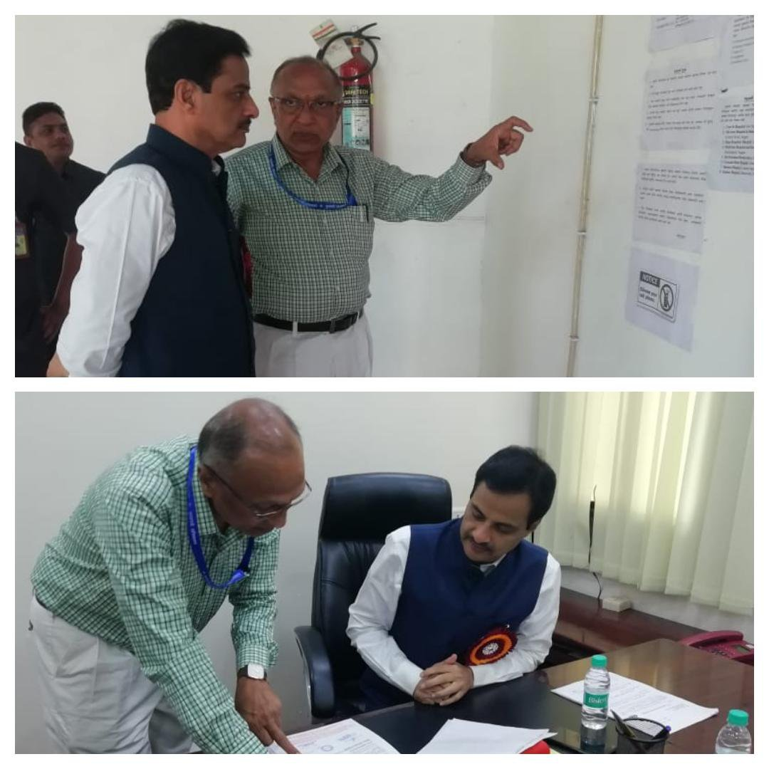 Minister of State Home &Urban Development Dr Ranjit Patil visits Chief Minister Medical Relif Fund office.